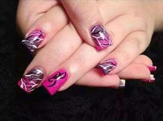 Pink camo and brownin head nails Pink Camo Nails, Camo Nail Art, Camouflage Nails, Purple Camo, Camo Nail Designs, Nail Art Designs, Hunting Nails, Deer Nails, Country Nails