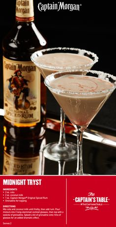 Captain and Cola with an alluring twist. #Captain #Morgan #rum #drinks #cocktails #recipe #Valentines #Day