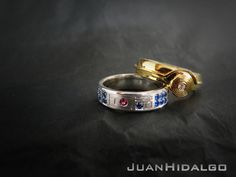 R2-D2 & C-3PO Wedding Rings, For You & The Droid Of Your Life. Don't think the fiancée will go for it though.