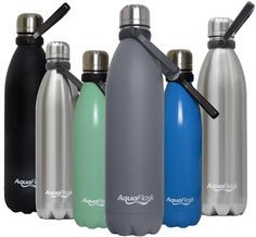 AquaFlask Vacuum Insulated Double Wall Stainless Steel Water Bottle with Handle, Multiple Sizes/Colors ** Visit the image link more details.