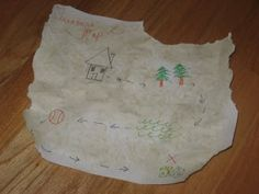 Create a treasure map to some fun prize...so much fun.
