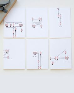Dance Step Note Cards