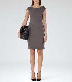 Womens Lavender Tailored Dress - Reiss Fede