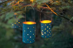 Use tin cans to create beautiful, sparkling garden lights with the help of our easy-to-follow project from the experts at BBC Gardeners' World Magazine.