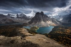 Assiniboine - I'm just out of incredible Assiniboine area. I've camped there for 6 days flying in and out by helicopter. First days were quite incredible: lots of dramatic moments and changing weather. On last 3 days we were under attack of grizzly bears. One of big bears with cub tired the camper's tent to pieces looking for something sweet. I bumped into small 1-year cub just at the Wonder pass and we met a huge Mum bear with a cub at the lake. Lots of footprints of grizzly bears…