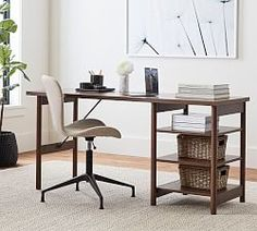 Francisco Draft Desk, Office Desk | Pottery Barn Bookcase With Drawers, Desk Shelves, Open Shelving, Adjustable Shelving, Modular Office, L Shaped Desk, Home Office Space, Wood Desk, High Quality Furniture