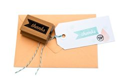 a Thanks tag rubber stamp by MissHoneyBird