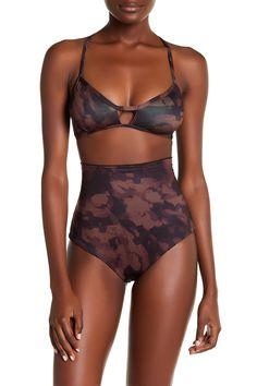 Jungle Jam Peace Triangle Bikini Top
