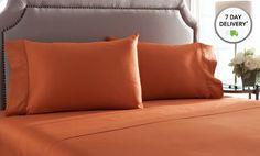 100% Pima-Cotton Sheet Set. Multiple Colors Available. Free Returns.