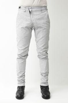 Slim Pants White Pigment Print - Devoa
