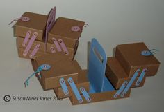 The Papercraft Post: Cantilever Sewing Box Tutorial
