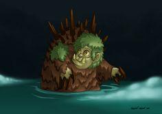 "Drawlloween Day 11 ""Slimy swamps, foggy bogs"""