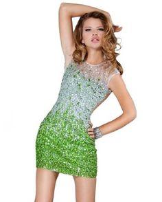 Jovani 171261, Ombre Jewel Short Dress #Jovani Dresses #Jovani Prom #Womens_Dresses #Style #Fashion #Bridesmaid #Bridal-Party-Dresses #Evening_Gown # Greens