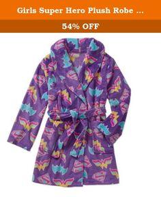 3-12 Years Sleepwear Girls Hooded Fleece Bathrobe