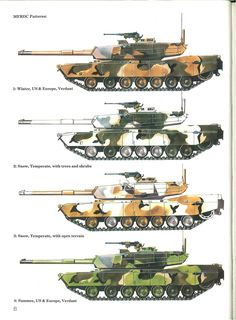 Early M1 (105mm) US enviro specific camo paint schemes