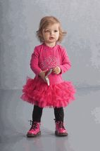 "Kate Mack  ""Wild Princess"" Sweet Hot Pink Infant & toddler Tutu Dress"
