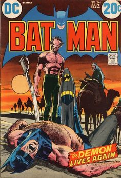 Batman #244, September 1972, cover by Neal Adams BTW, I love manly men with hairy chests in comic books.