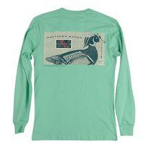 Southern Marsh Expedition Wood Duck L/S T-Shirt- Bimini Green