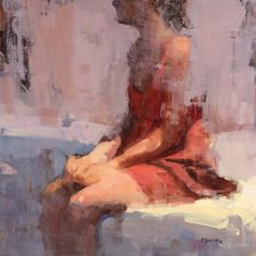 """Second Thoughts by Terry Miura 18 x 18"""" Oil"""