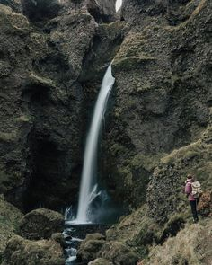 Rock Waterfall, New Pins, Weather, Places, Outdoor, Outdoors, Outdoor Games, Weather Crafts, Lugares