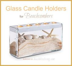 Glass Candle Holders for Beach Displays