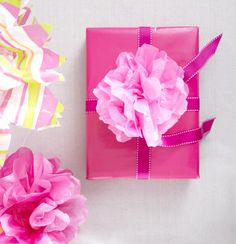 tissue paper flower for gift packages