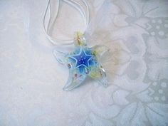 ★´*•.¸✩ .99¢ #Auction✩´*•.¸★ #Starfish #Glass #Pendant #Necklace ✩´*•.¸★ http://r.ebay.com/jw2ZFd #shop #eBay #jewelry #gifts #Cyberweek #sale