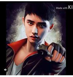 Pull Me Back To Real Life! — besternatexo: Trigger the Devil Kyungsoo as. Kyungsoo, Chanyeol, Chanbaek, Kaisoo, Kris Wu, K Pop, Chibi, Exo Anime, Anime Guys