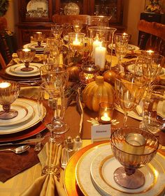 Thanksgiving Table by dining delight1, via Flickr