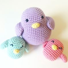 Visit the post for more. Crochet Animal Amigurumi, Crochet Baby Toys, Crochet Birds, Crochet Art, Crochet Animals, Crochet Patterns, Hello Kitty, Diy And Crafts, Dinosaur Stuffed Animal