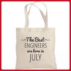 Best Engineers Are Born In July Gift Bag: Liberty Bargain Tote Bag - Shoulder bags (*Amazon Partner-Link)