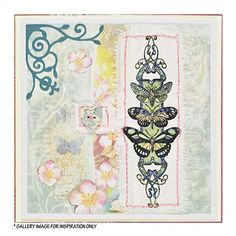 Crafty Individuals CI-347 - 'Butterfly Trio Panel' Art Rubber Stamp, 45mm x 130mm - Crafty Individuals from Crafty Individuals UK