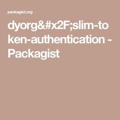 dyorg/slim-token-authentication - Packagist