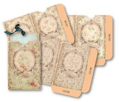 Antique+Floral+Envelopes++Digital+Collage+Sheet+by+vintagebyme,+$4.50