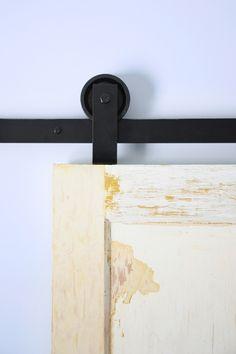 top mount barn door hardware minimalist design
