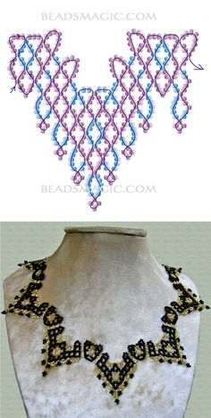 Free pattern for necklace Selena | Beads Magic
