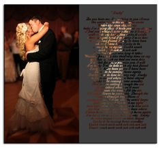 First Dance Unique Wedding Photo Gift by UniquePhotique on Etsy, $25.00