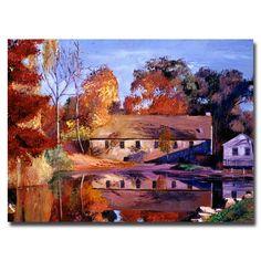 Trademark Fine Art David Lloyd Glover 'Reflections of a Millhouse' Canvas Art