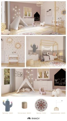 Top 5 Rhinov children's bedroom decor projects in 2019 Baby Bedroom, Nursery Room, Girls Bedroom, Childrens Bedroom Decor, Baby Room Decor, Kid Decor, Toddler Rooms, Kids Room Design, Office Interiors