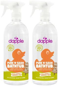 Dapple Baby Tub & Tile Cleaner Spray - Fragrance-Free - 30 oz - 2 pk