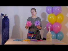 Второй видео урок для аэродизайнеров (ромашки из шаров) от Алены Погодиной - YouTube