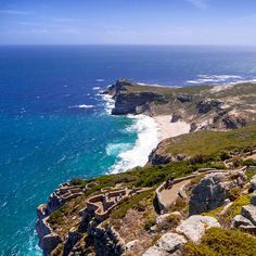 View from Cape Point Lighthouse in South Africa, where two oceans meet. Photo courtesy of jerricatan on Instagram.