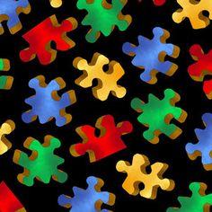 Cranston VIP Fabrics Puzzle Pieces Fabric