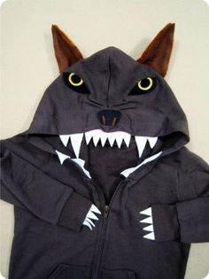 Fun wolf hoodie for Three Little Pigs, Peter & the Wolf, Red Riding Hood & more.