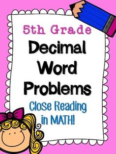 math worksheet : math fractions common core dog themed word problems  words math  : Decimal Word Problems 5th Grade Common Core