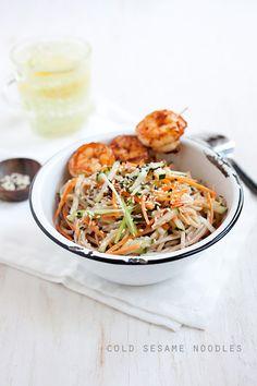Cold Sesame Noodles with Shrimp