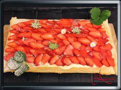 AnnA´s Kreativ Blog: Blätterteigkuchen mit Erdbeeren