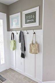 idea for the silly nook by the stairs (and I love the framed address!)