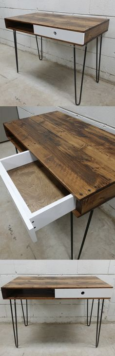 Handcrafted desk from reclaimed pallets