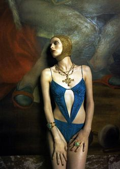 "Karen Elson in ""Iron Butterflies"" by Steven Meisel Vogue Italia 2004"